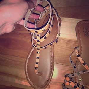 Tan gladiator sandal by Mossimo